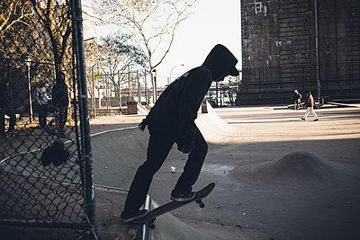 NYC Skate Trick - p1290m1112663 by Fabien Courtitarat
