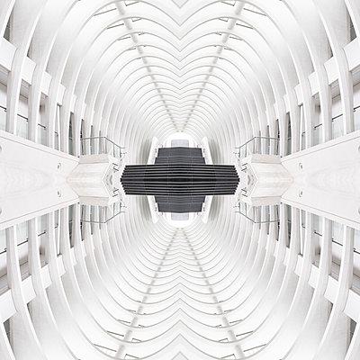 Abstract kaleidoscope pattern Liège-Guillemins station in Liège - p401m2210771 by Frank Baquet