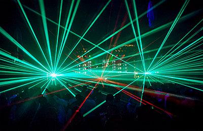 Laser show - p1057m1010242 by Stephen Shepherd