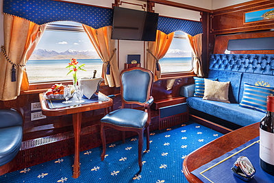 Trans Siberian Railway Express Train Interior - p390m2013436 by Frank Herfort