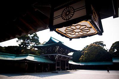 Lantern detail at the Meiji Shrine in Tokyo, Japan. - p934m1177234 by Dominic Blewett