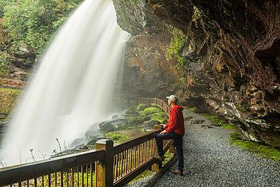 Kennan Harvey Hiking Behind Dry Falls In Nantahala National Forest, North Carolina - p343m1223847 by Kennan Harvey