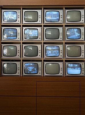 Installation von Ueberwachungsmonitoren des Traenenpalastes - p627m1035409 von Christian Reister