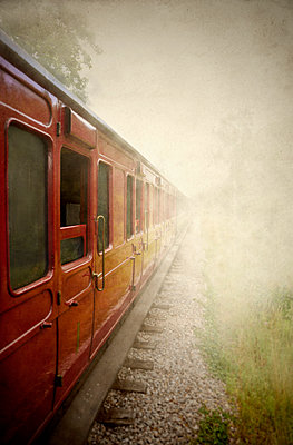 Train in the fog - p1072m2167986 by Neville Mountford-Hoare