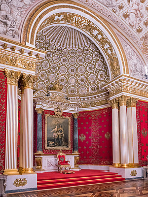 Catherine Palace, Throne room - p390m2122331 by Frank Herfort