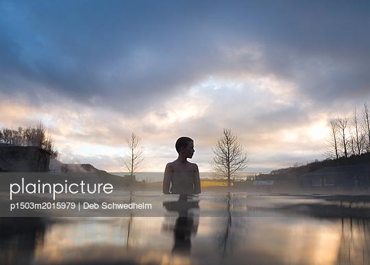 Boy at Secret Spring - p1503m2015979 by Deb Schwedhelm
