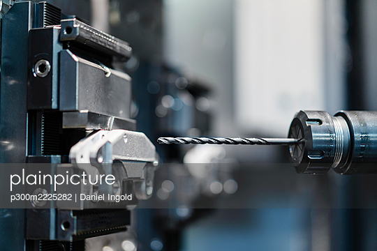Drill press at industrial factory - p300m2225282 by Daniel Ingold