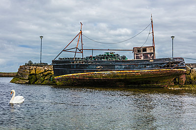 Abandoned Fishing Boat  - p1082m2087568 by Daniel Allan