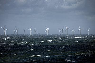 Offshore Windenergiepark - p1314m1189973 von Dominik Reipka