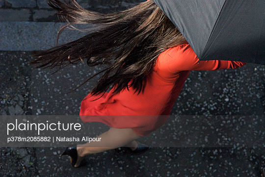 Red Dress - p378m2085882 by Natasha Alipour