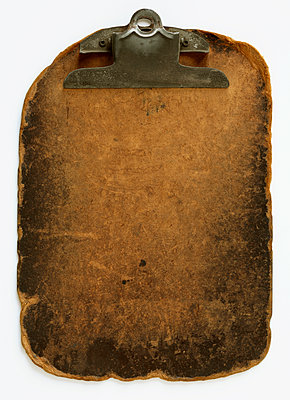 Worn Clipboard - p1614m2185790 by James Godman