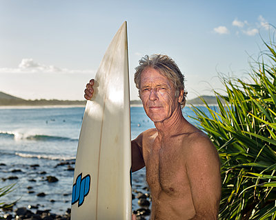 Surfer portrait at surfbreak - p1125m2013971 by jonlove