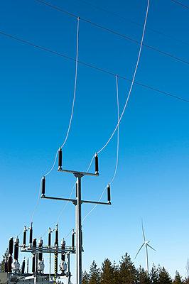 Transformer station of wind farm - p1079m1042403 by Ulrich Mertens