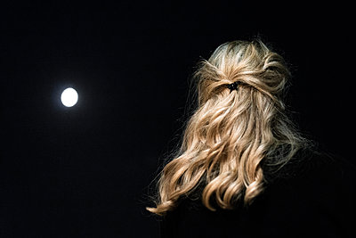Woman and Moon - p1601m2173221 by Isabelle Scotta