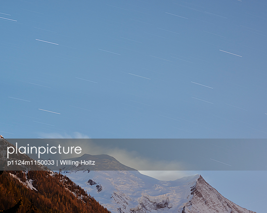 Sternenhimmel am Mont Blanc - p1124m1150033 von Willing-Holtz