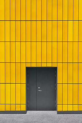 Door in yellow wall - p1280m2008560 by Dave Wall