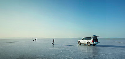 Iceskating in Sibirien - p390m695033 von Frank Herfort
