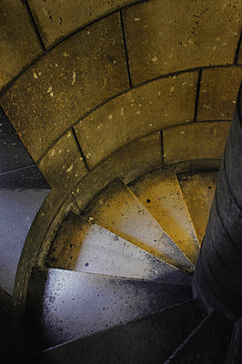Spiral staircase inside the Tower of Sacre-Coeur in Paris - p1072m829315 by Neville Mountford-Hoare