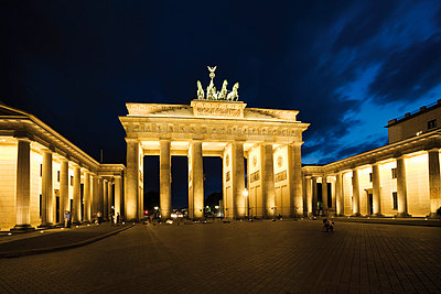 Brandenburg Gate at night - p3007387f by Dieter Heinemann