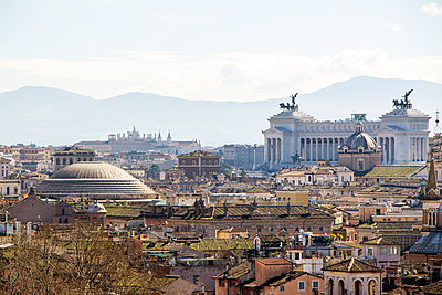 Italy, Rome, City view and Pantheon - p300m926409f by EJW