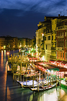 Grand Canal From Rialto Bridge At Dusk; Venice, Italy - p442m861365 by Yves Marcoux