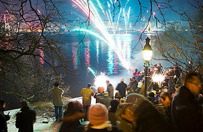 New Year's Eve in Hamburg; Germany - p3240375 by Alexander Sommer