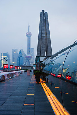 The bund and pudong shanghai - p9246141f by Image Source