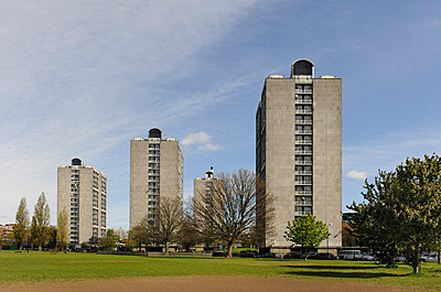 1960s low cost appartments - p1048m1182464 by Mark Wagner