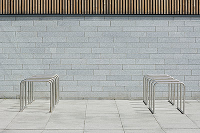 Empty Bicycle Racks - p1100m2090760 by Mint Images