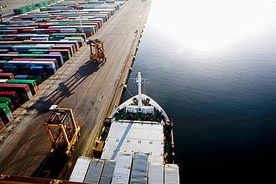 Survey picture on cargo ship with containers - p4265820f by Adam Haglund