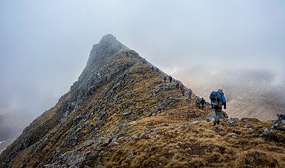 UK, Scotland, Glencoe, trekking at Sron na Lairig - p300m1356090 by Alun Richardson
