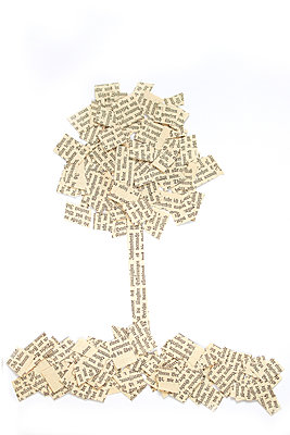Tree made of paper - p450m2258999 by Hanka Steidle