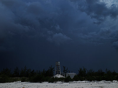 An ominous sky over the beach, Dong Hoi, Quang Binh Province, Vietnam, Southeast Asia - p934m892963 by Boris Zuliani