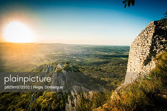 Sunrise at Pic Saint-Loup - p829m972332 by Régis Domergue
