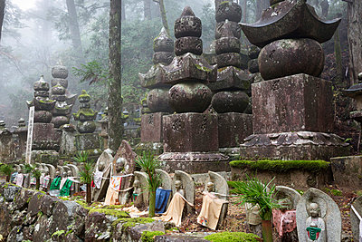 Buddhist cemetery of Oku-no-in, Koyasan (Koya-san), Kansai, Japan, Asia - p871m1048059 by Stuart Black