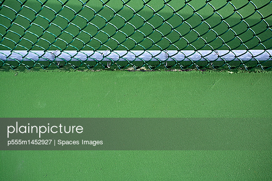 Chain Link Fence and Tennis Court
