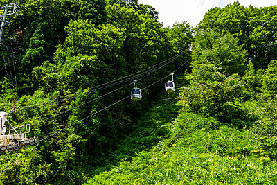 Cable car in the Japanese Alps - p1271m2055365 by Maurice Kohl