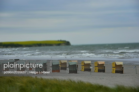 Beach chairs on the sea - p096m2099687 by Helga Lorbeer
