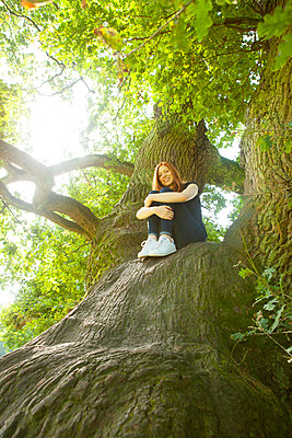Innehalten in der Natur - p045m1184826 von Jasmin Sander