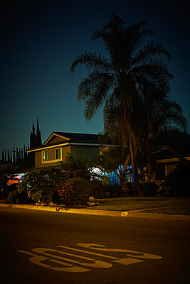 HOUSE AT NIGHT - p1430m1503816 by Charlotte Bresson