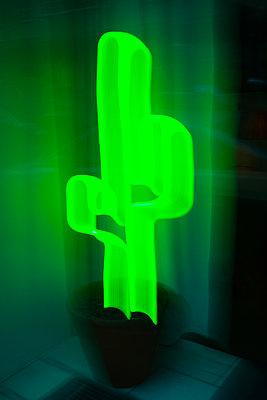Neon cactus - p1418m2216002 by Jan Håkan Dahlström