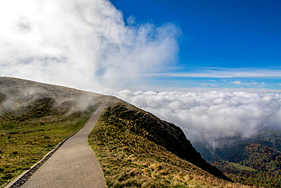 Path in the chain of volcanoes. France. Auvergne, Puy de Dome - p813m1082911 by B.Jaubert