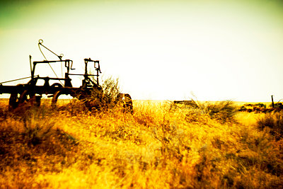 Rustic Farm Equipment  - p694m2218886 by Justin Hill photography