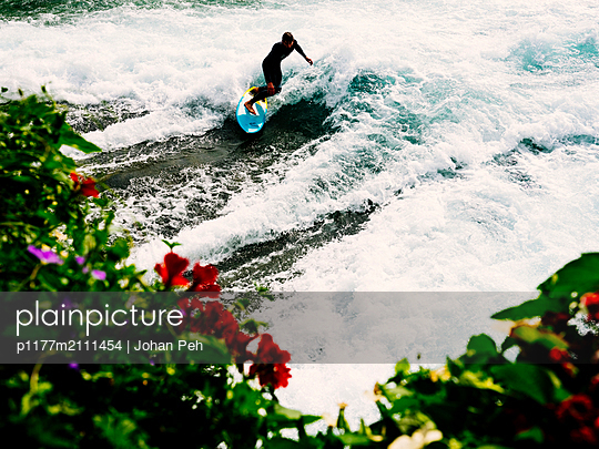 River surfing - p1177m2111454 by Philip Frowein