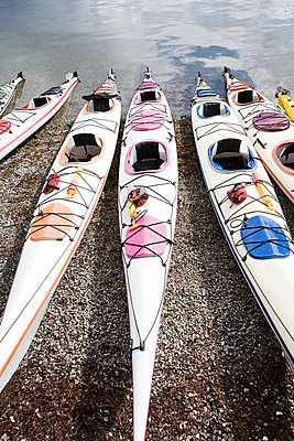Kayaks - p9245712f by Image Source