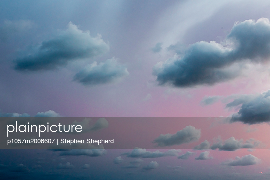 Clouds at sunset - p1057m2008607 by Stephen Shepherd