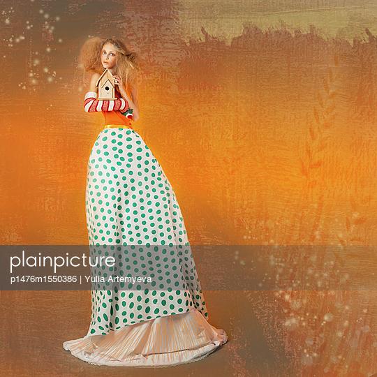 Fairy with birdhouse - p1476m1550386 by Yulia Artemyeva
