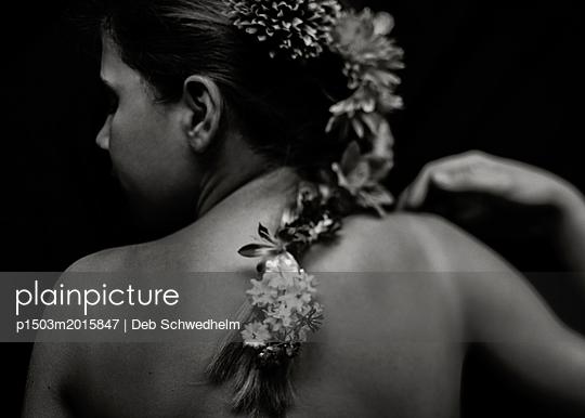 Flower Braid - p1503m2015847 by Deb Schwedhelm