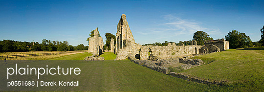 Bayham Old Abbey. General View of the Abbey showing the Nave, Quire and Presbytery. - p8551698 by Derek Kendall