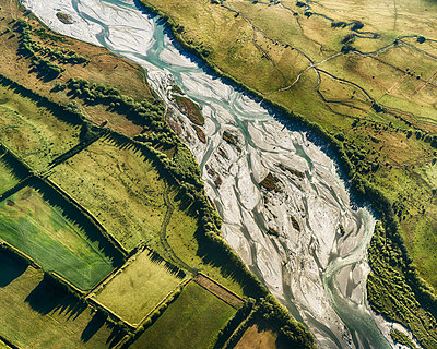 Riverbed aerial view - p1154m1425720 by Tom Hogan